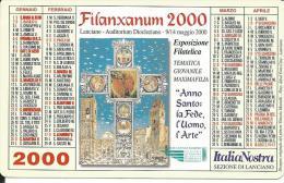 CAL606 - CALENDARIETTO 2000 - FILANXANUM - Formato Piccolo : 1991-00