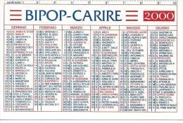CAL609 - CALENDARIETTO 2000 - BIPOP-CARIRE - Formato Piccolo : 1991-00