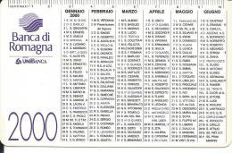CAL616 - CALENDARIETTO 2000 - BANCA DI ROMAGNA - Calendari
