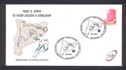 6.- 001 SPAIN ESPAGNE 2012. SPECIAL  POSTMARK. CYCLING CICLISME. CICLISMO.  92 VOLTA CICLISTA A CATALUNYA. BADALONA. BAR - Ciclismo