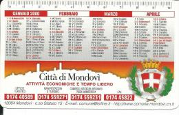 CAL618 - CALENDARIETTO 2000 - CITTA´ DI MONDOVI´ - Calendari