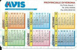 CAL619 - CALENDARIETTO 2000 - AVIS DI VERONA - Formato Piccolo : 1991-00
