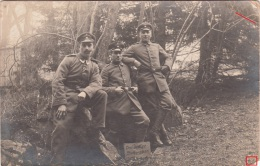 Photocarte Allemande-Militaires Allemands (Drei Lustige Schwaben)pose Photo 1916(guerre14-18)2scans Lire+bas - War 1914-18