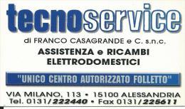CAL630 - CALENDARIETTO 2000 - TECNOSERVICE - ALESSANDRIA - Formato Piccolo : 1991-00