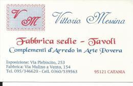 CAL631 - CALENDARIETTO 2000 - VITTORIO MESSINA - FABBRICA SEDIE - TAVOLI - CATANIA - Formato Piccolo : 1991-00
