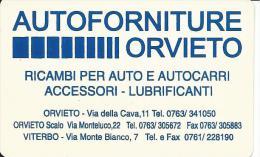 CAL634 - CALENDARIETTO 2000 - AUTOFORNITURE - ORVIETO - Calendari