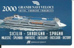 CAL640 - CALENDARIETTO 2000 - GRANDI NAVI VELOCI - Calendari