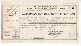 B. W. Noble, Ltd, Caledonian, Scottish, West Of Scotland, Rue Taitbout, Paris - 1925 - Royaume-Uni