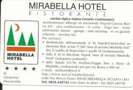 CAL645 - CALENDARIETTO 2000 - MIRABELLA HOTEL RISTORANTE - AUTOSTRADA A/16 - Calendari