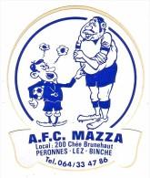 AUTOCOLLANT   STICKER  PERONNES LES BINCHE - A.F.C. MAZZA - Aufkleber