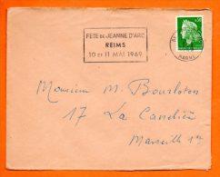 51 REIMS  FETE DE JEANNE D'ARC       8 / 5 / 1969   Lettre Entière N° E 764 - Marcophilie (Lettres)