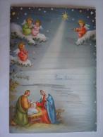 Nieuwjaarsbrief Lettre De Nouvel An Genk 1961 Kerststal Noël Printed In Belgium Coloprint 40285/1 - Mededelingen