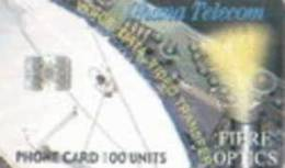 = GHANA  - ISSUED - 06 - 2002 - TIRAGE - 100 000 - Fibre Optics  = 7 - Ghana