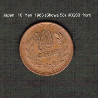 JAPAN    10  YEN  1983  (Hirohito 58---Showa Period)  (Y # 73a) - Japan