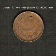 JAPAN    10  YEN  1988  (Hirohito 63---Showa Period)  (Y # 73a) - Japan