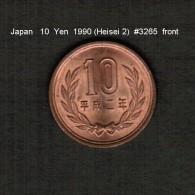 JAPAN    10  YEN  1990 (Akihito 2---Heisei Period)  (Y # 97.2) - Japan