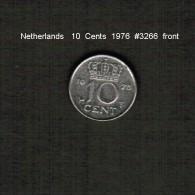 NETHERLANDS   10  CENTS  1976  (KM # 182) - [ 3] 1815-… : Kingdom Of The Netherlands
