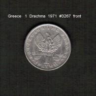 GREECE   1  DRACHMA  1971  (KM # 98) - Griechenland