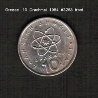 GREECE   10  DRACHMAI  1984  (KM # 132) - Griechenland