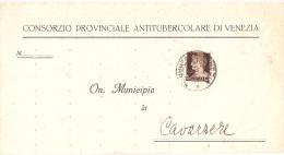 CONSORZIO PROVINCIALE ANTITUBERCOLARE DI VENEZIA - Marcophilie