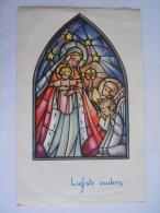 Nieuwjaarsbrief Lettre De Nouvel An Genk 1963 Maria Jezus Marie Jesus Illustrator Ivers Printed In Belgium - Mededelingen