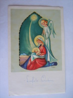 Nieuwjaarsbrief Lettre De Nouvel An Genk 1962 Maria Jezus Engel Marie Jesus Ange Illustrator Ivers Printed In Belgium - Mededelingen