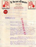 ALGERIE - SAINT EUGENE ORAN- BELLE FACTURE F. SENECLAUZE- BUVEZ DU BON VIN - Factures & Documents Commerciaux