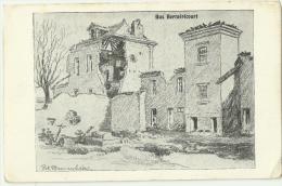CPA /  Berméricourt / Kirche / Feldpost /  Carte Militaire Allemand /   Guerre 14/18 - France