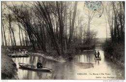 77-CHELLES-  La Marne-à L´Ile Victor-animée,pêcheurs à La Ligne En Barques - Chelles