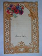 Nieuwjaarsbrief Lettre De Nouvel An Genk 1959 Decoupis Fleurs - Mededelingen