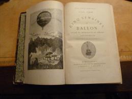 JULES VERNE  HETZEL  VOLUME TRIPLE :  CINQ SEMAINES EN BALLON. VOYAGE AU CENTRE DE LA TERRE.DE LA TERRE A LA LUNE - Livres, BD, Revues
