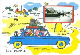 CPSM         Bien Arrivés à Franchesse     P  541 - France