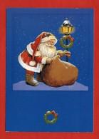 1237 -  CPM - Père Noël - Carte Signée -  Illustration Zéphir D´Elfe   (recto-verso) - Natale
