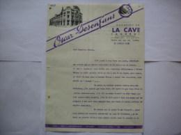 CAMBRAI OSCAR DESENFANS LA CAVE COURRIER DU 12 JANVIER 1938 - 1900 – 1949