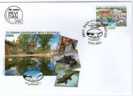 Serbia, 2011, 75th Anniversary Of Belgrade Zoo, FDC - Serbien