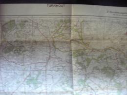 TURNHOUT.  Carte Originale D´Etat Major Allemand De La Seconde Guerre Mondiale - Sonderausgabe VII 1941 - Blatt Nr 8. - Cartes Géographiques