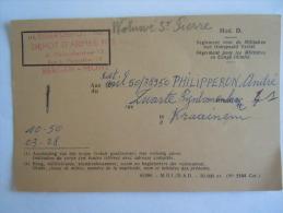 Belgie Belgique Depot D'armée N° 2 Mons Biljet Voor Definitief Verlof Titre De Congé Définitif 1964 Kraainem - Documents