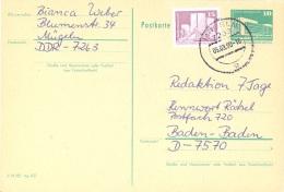 GERMANY. POSTAL STATIONARY WITH ADDITIONAL POSTAGE. 1990 - [6] República Democrática