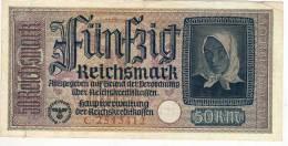 50 Reichsmark Good Condition - 50 Reichsmark