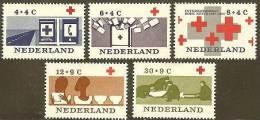 NEDERLAND 1963 OMP Zegels Rode Kruis 801-805 #722 - Period 1949-1980 (Juliana)