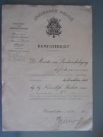 België Berichtbrief Benoeming Tot Reserveonderluitenant Van De Genie En De Transmissietroepen 1958 - Documents