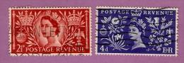 27 ~~ GRAND  BRETAGNE  N°  279 / 80 + 283 / 85   Oblitérés - Grossbritannien