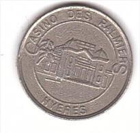 JETON - CASINO - HYERES - 2 FRANCS   -  SLOT MACHINE. - Casino