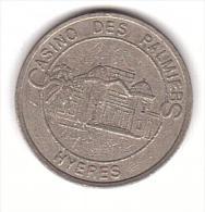 JETON - CASINO - HYERES - 5 FRANCS   -  SLOT MACHINE. - Casino