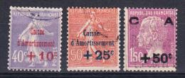FRANCE.1929 Nº YVERT Nº  249/251.CAISSE D'AMORTISSEMENT. OBLITERÉS  FR 197 - France