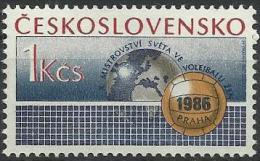 CSR 1986-2863 WORLD CHAMPIONSHIP IN VOLEYBALL, CZECHOSLOVAKAI, 1 X 1v, MNH - Volleyball