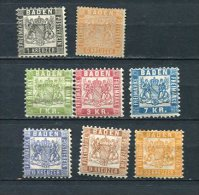 Germany Baden  1860-8 Accumulation MH  Cv 290 Euro - Baden