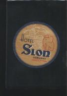 Hotel SLON Ljubljana Yugoslavia - Hotelaufkleber