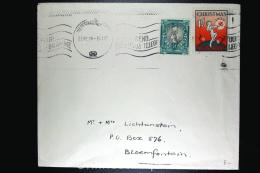 South Africa Cover 1939 With Christmas Seal/stamp Pietermaritzburg To Bloemfontein - Briefe U. Dokumente