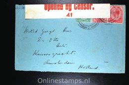 South Africa 1917 Bloemfontein To Amsterdam Holland Censor Opened - Cartas